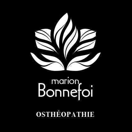 Logo négatif M. Bonnefoi osthéopathe