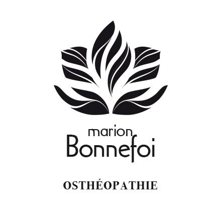 Logotype noir et blanc M. Bonnefoi osthéopathe