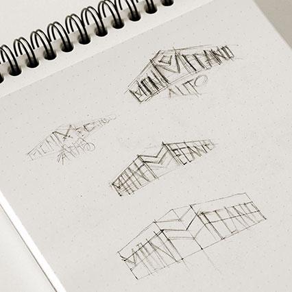 Recherches graphiques pour le logotype