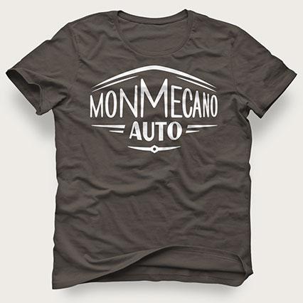 Logo Monmecanoauto imprimé sur un T-Shirt