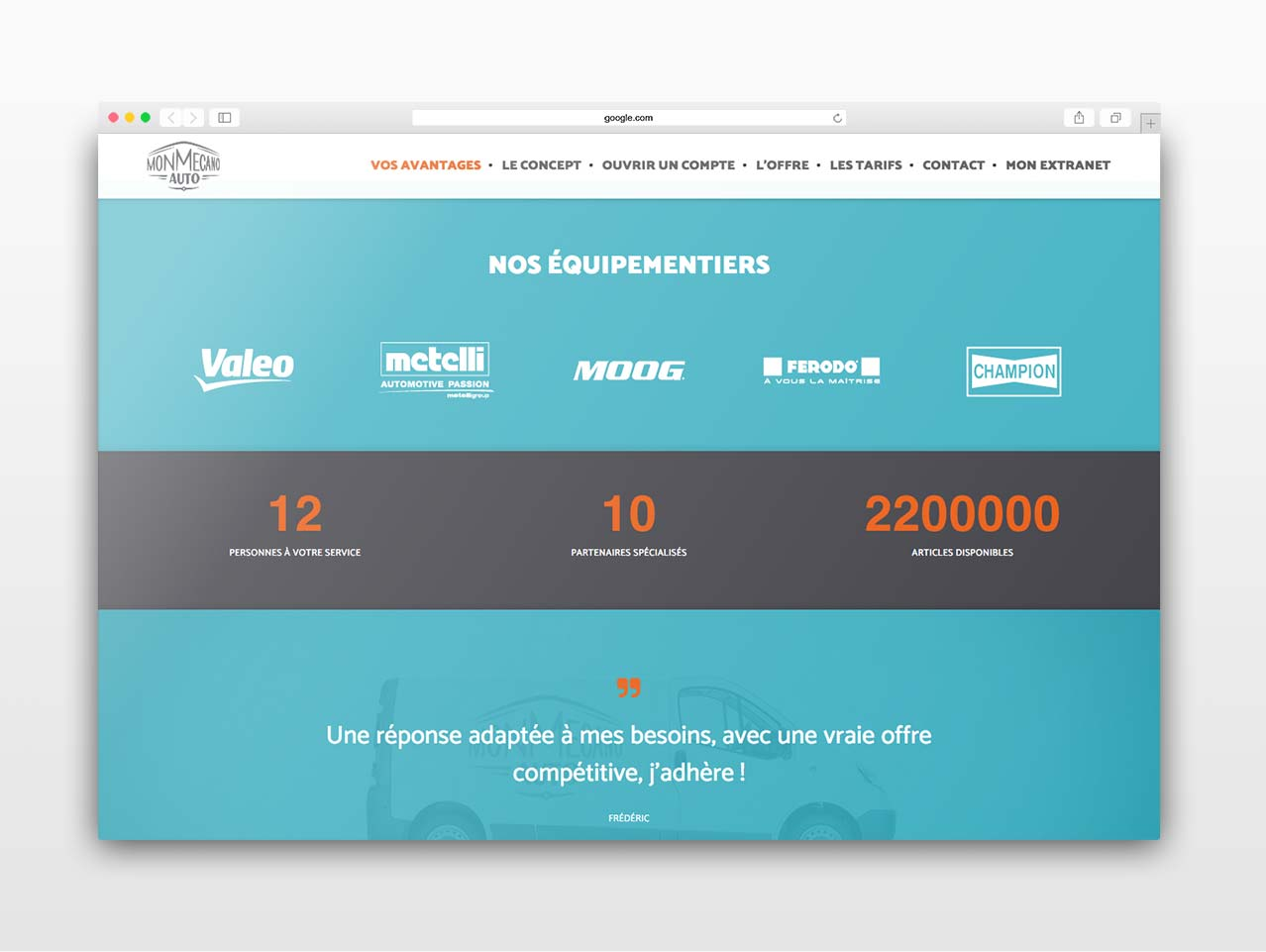 Capture d'écran du site www.monmecanoauto.com