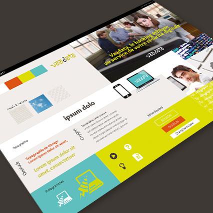 Moodboard - planche de tendances webdesign Vaadata
