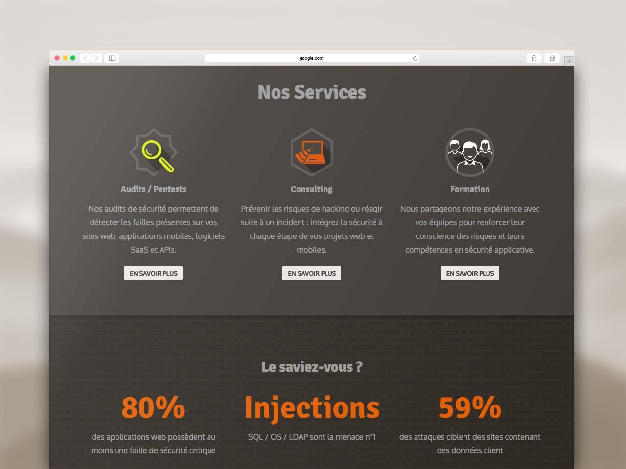 Webdesign section Services site Vaadata