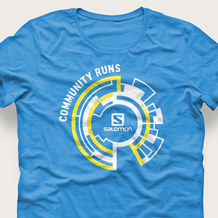 T-shirt avec logo Salomon Community Runs
