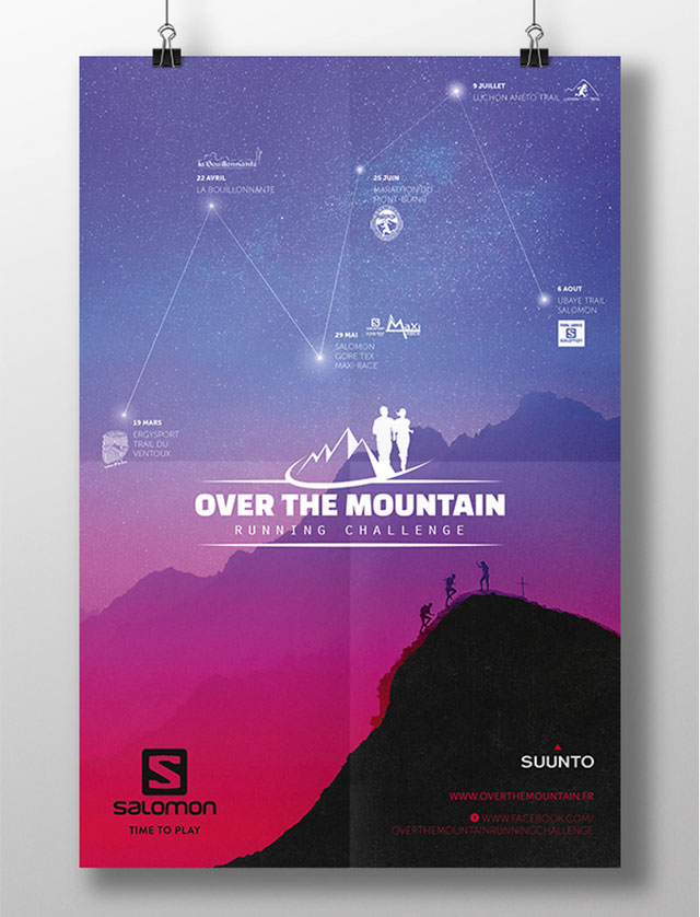 Affiche course Over The Mountain 2017
