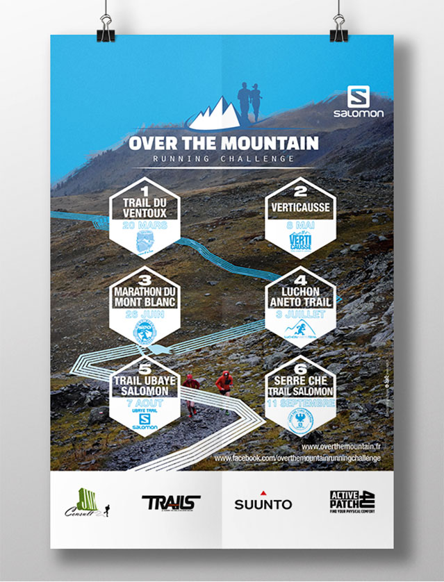 Affiche course Over The Mountain 2016