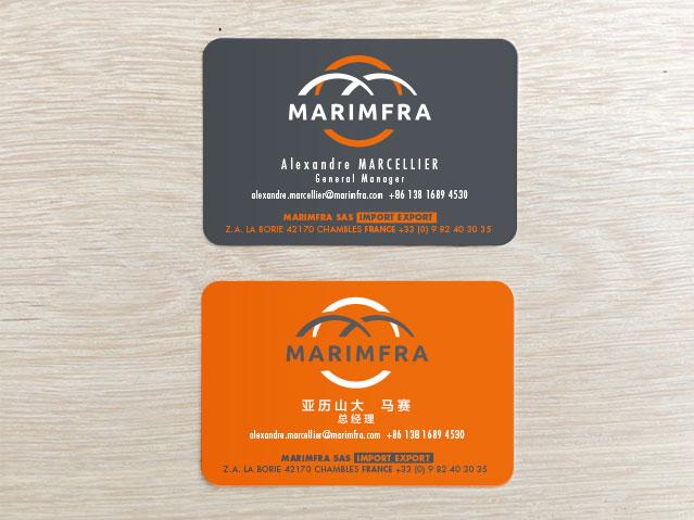 Cartes de visite Marimfra
