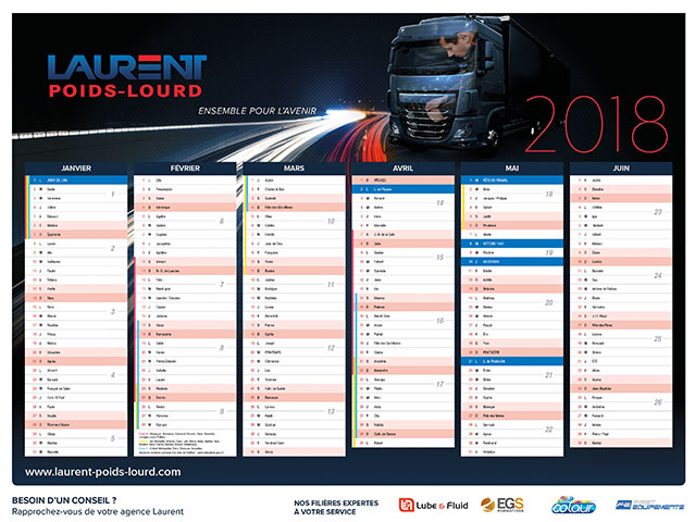 Calendrier Laurent Automobile 2018