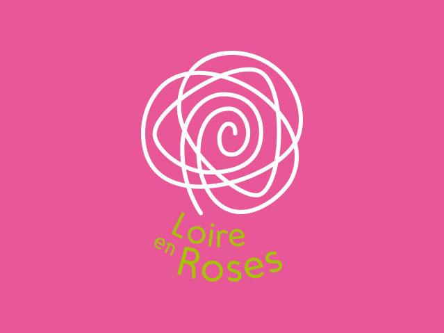 Logotype négatif Loire en Roses