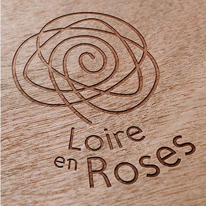 Gravure logotype Loire en Roses