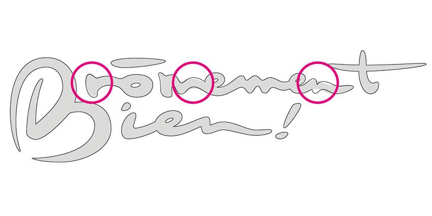 Optimisation du dessin des lettres du logotype