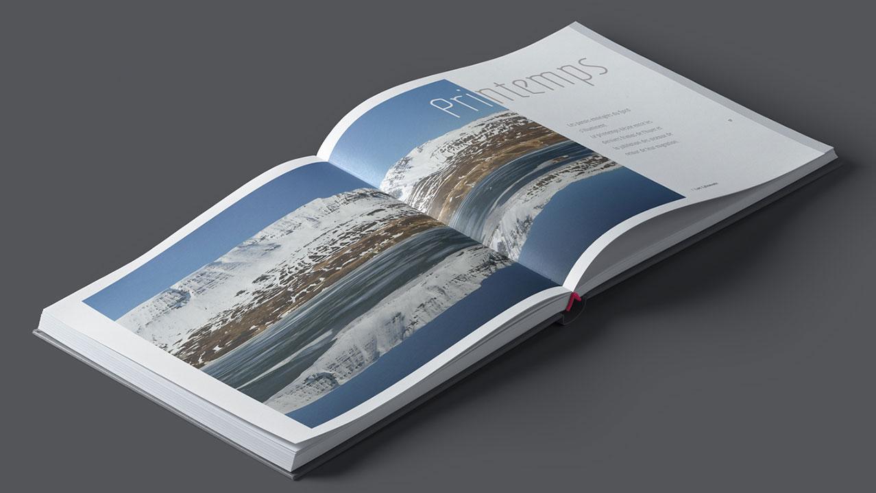 livre photo Islande double page