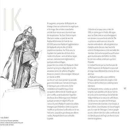 Graphisme livre de voyage en Islande