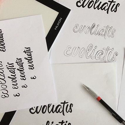 Croquis et dessins de lettres