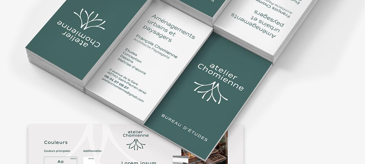 Carte visite Atelier Chomienne